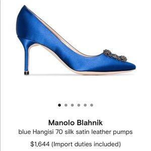new authentic Manolo Blahnik Hangisi 70 size 371/2